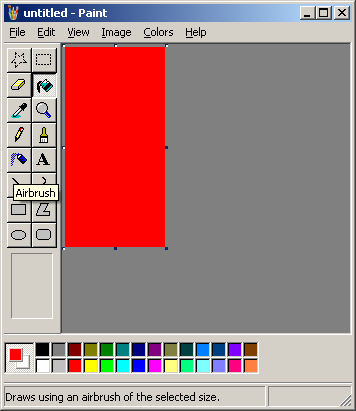 how to change background color in ms paint